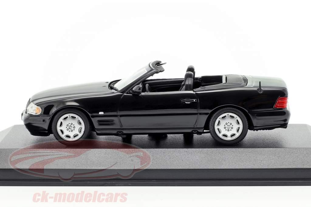 Mercedes-Benz SL anno di costruzione 1999 nero 1:43 Minichamps