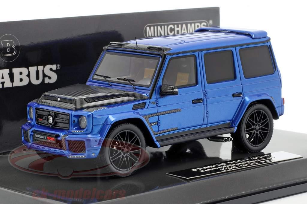 Brabus 900 basado en Mercedes-Benz G 65 año de construcción 2017 azul oscuro 1:43 Minichamps