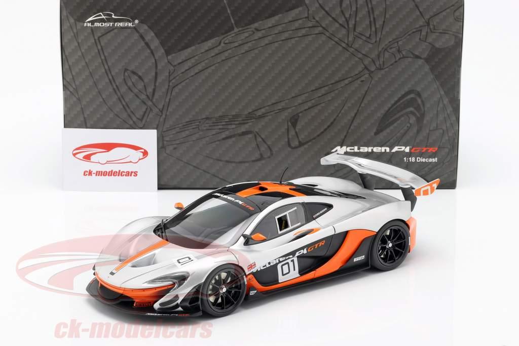 McLaren P1 GTR Concept Car 2015 black / orange / silver 1:18 Almost Real