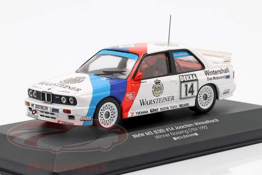 BMW M3 (E30) #14 winnaar Norisring DTM 1992 Joachim Winkelhock 1:43 CMR