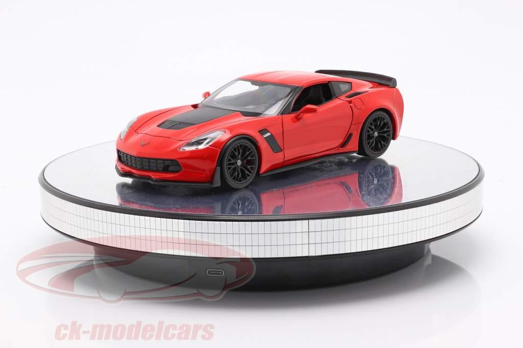 Mirror pladespiller diameter 25 cm til modelbiler i skala 1:18 og 1:24 Triple9