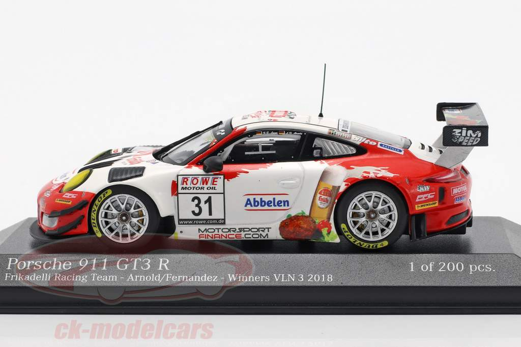 Porsche 911 GT3 R #31 Winner VLN 3 Nürburgring 2018 Frikadelli 1:43 Minichamps
