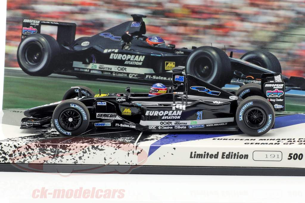 Fernando Alonso Minardi PS01 #21 German GP formula 1 2001 1:43 Minichamps