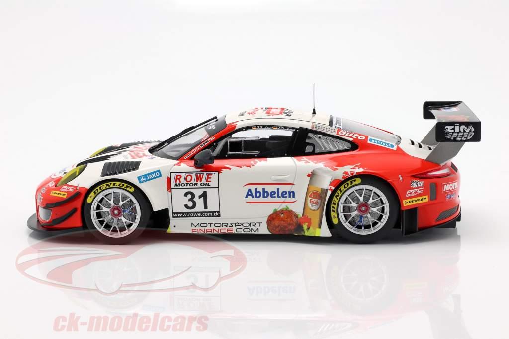 Porsche 911 GT3 R #31 vincitore VLN 3 Nürburgring 2018 Frikadelli 1:18 Minichamps