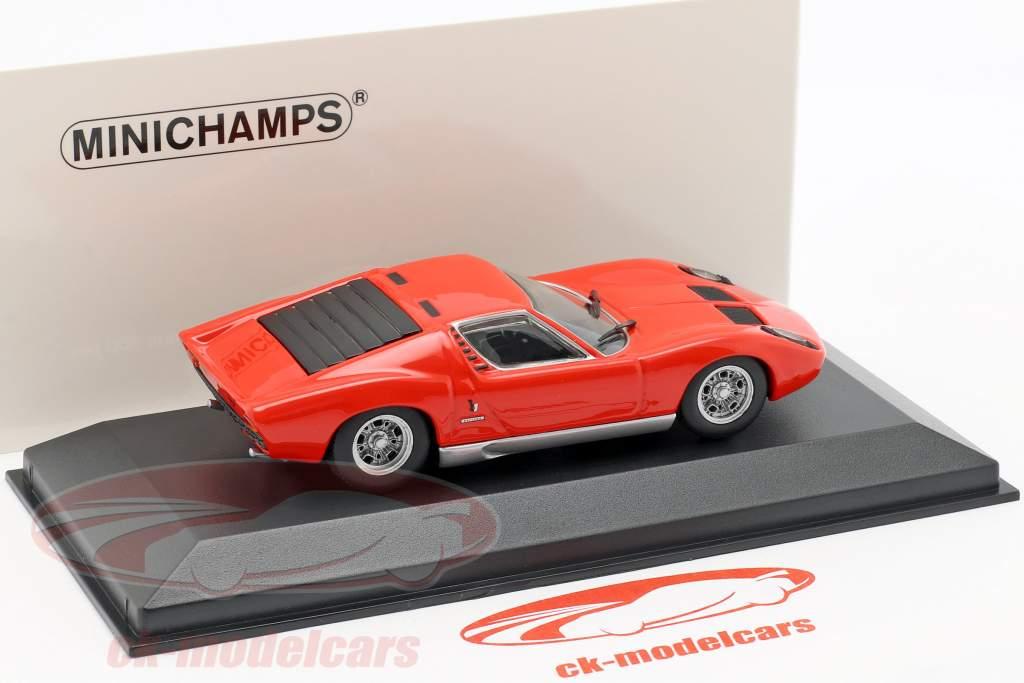Lamborghini Miura año de construcción 1966 rojo 1:43 Minichamps