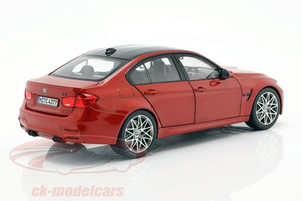 BMW M3 F80 Competition jaar 2016 Sakhir oranje 1:18 Norev