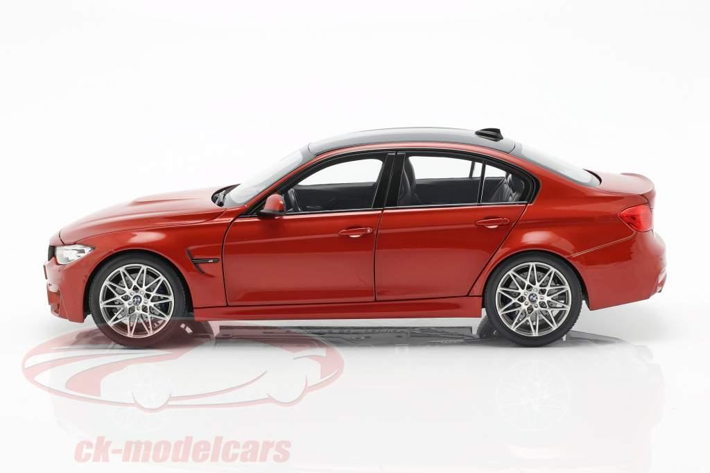 BMW M3 F80 Competition Baujahr 2016 sakhir orange 1:18 Norev