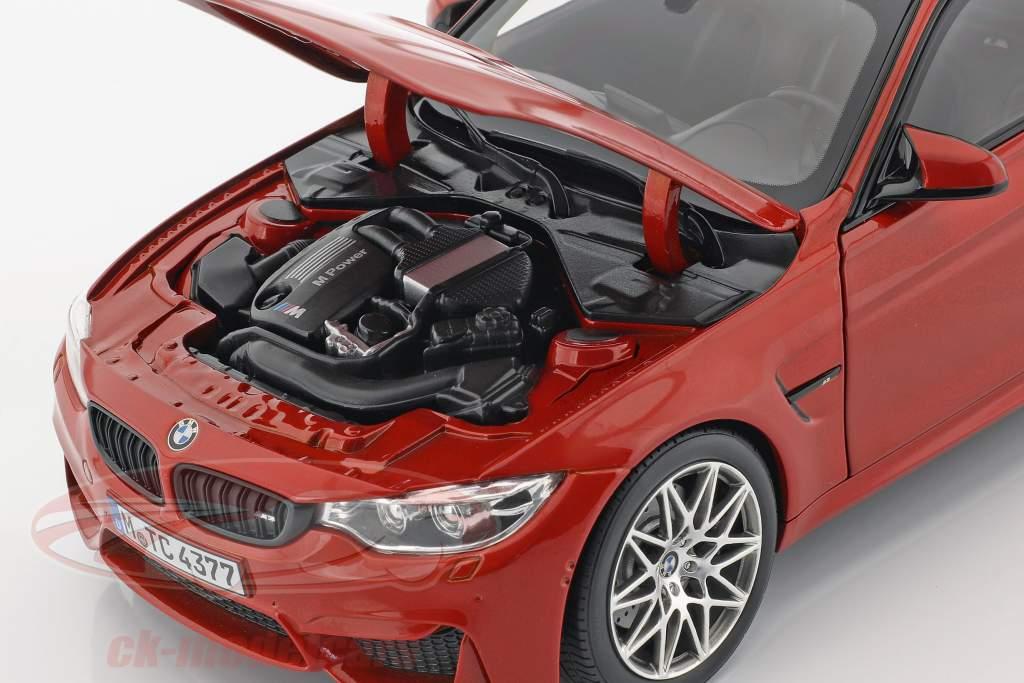 BMW M3 F80 Competition anno 2016 Sakhir arancione 1:18 Norev
