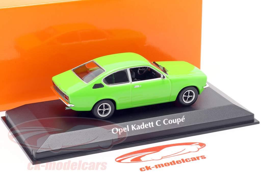 Opel Kadett C Coupe année 1974 vert 1:43 Minichamps