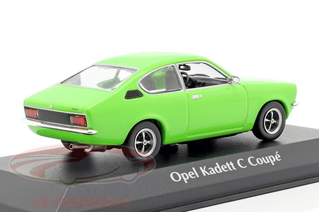 Opel Kadett C Coupe jaar 1974 groen 1:43 Minichamps