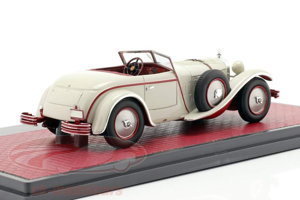 Mercedes-Benz 680S W06 Torpedo Roadster åbent top 1928 lysegrå 1:43 Matrix