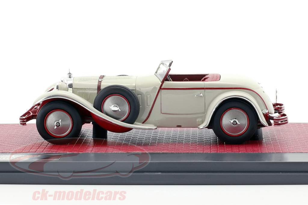 Mercedes-Benz 680S W06 Torpedo Roadster Open Top 1928 hellgrau 1:43 Matrix
