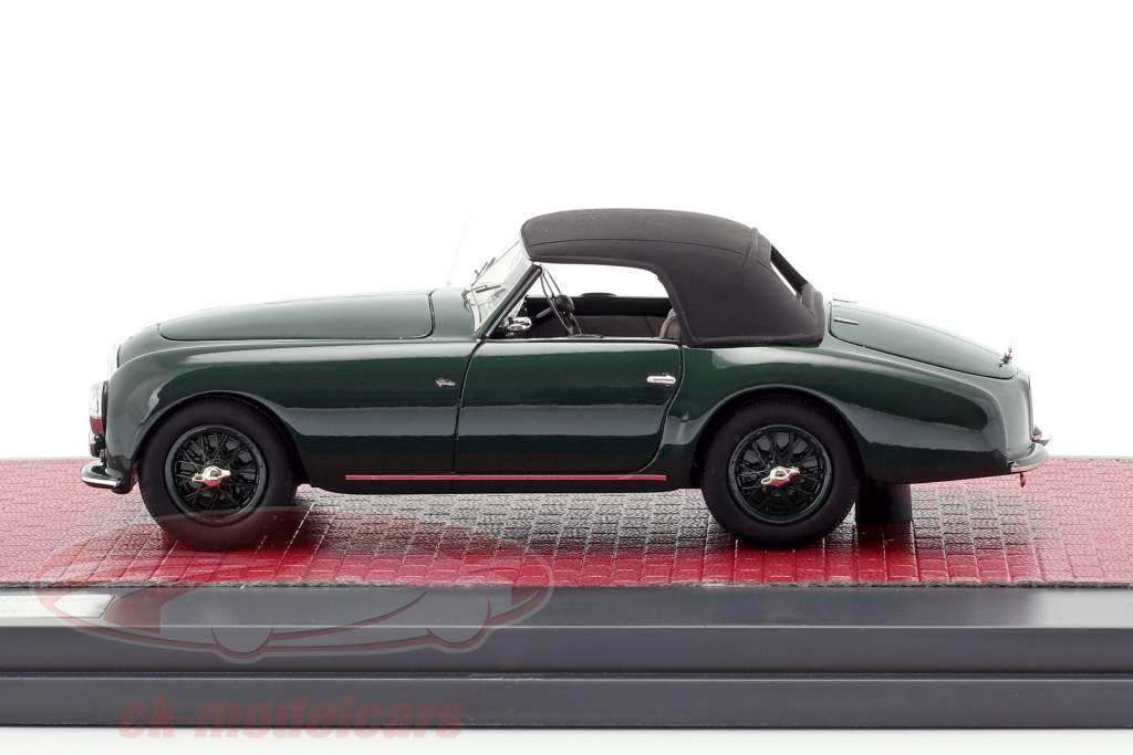 Aston Martin DB2 Vantage DHC Drophead coupe lukket top 1952 grøn 1:43 Matrix