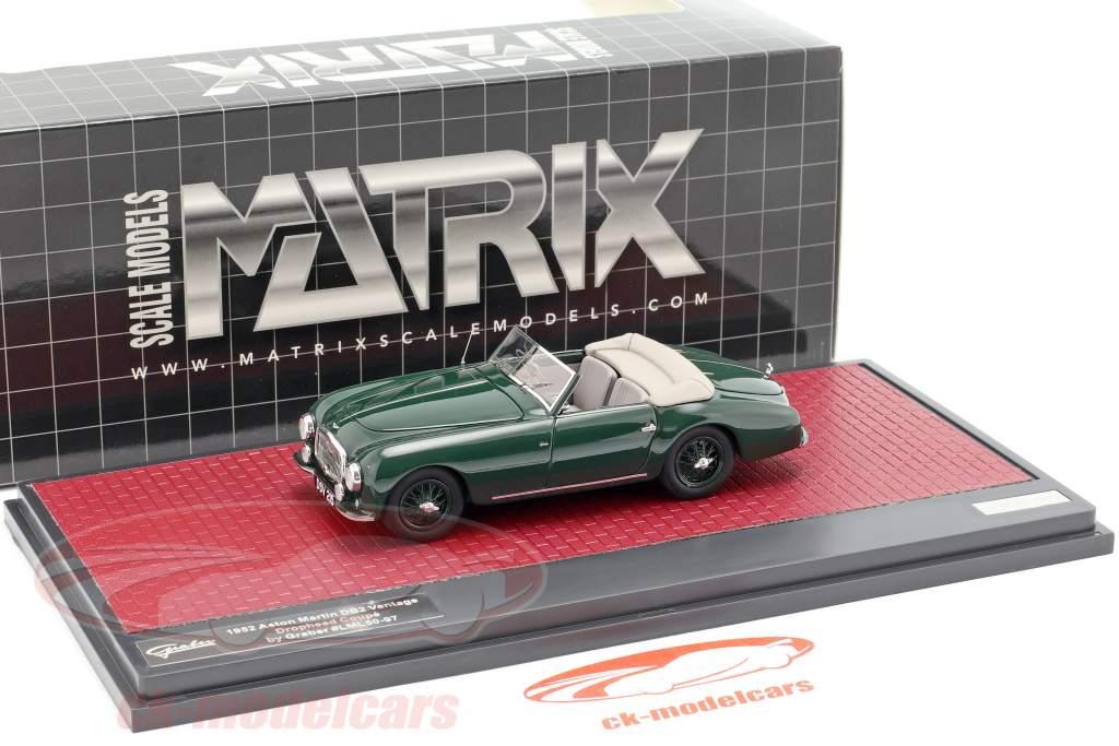 Aston Martin DB2 Vantage DHC Drophead coupe åbent top 1952 grøn 1:43 Matrix