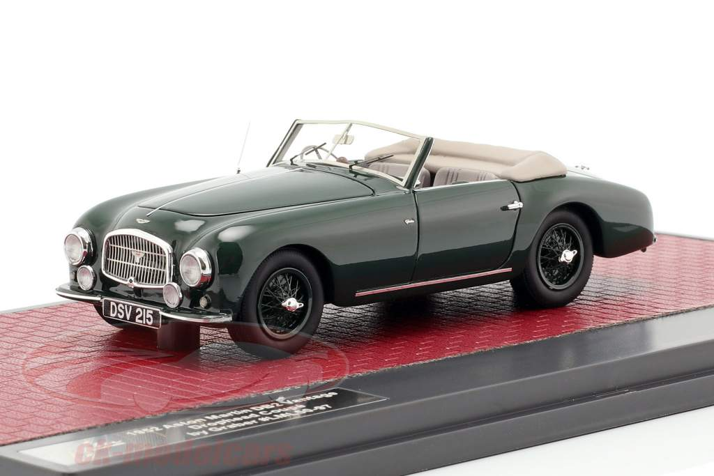 Aston Martin DB2 Vantage DHC Drophead Coupe open Top 1952 grün 1:43 Matrix