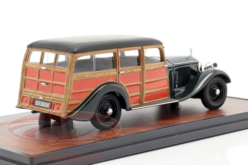 Rolls Royce Phantom II Shooting Brake 1930 verde oscuro / aspecto de madera 1:43 Matrix
