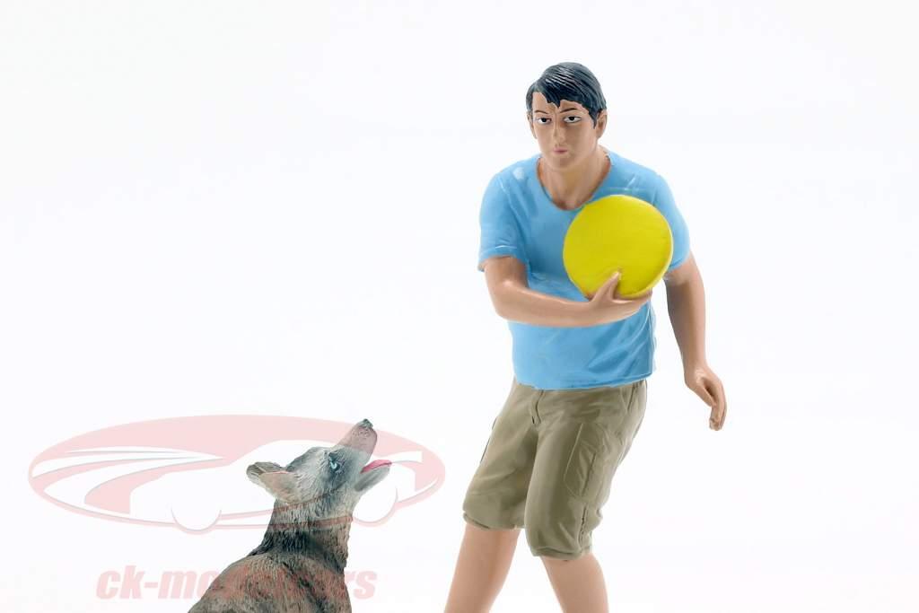 Mann mit Hund Figurenset 1:18 American Diorama