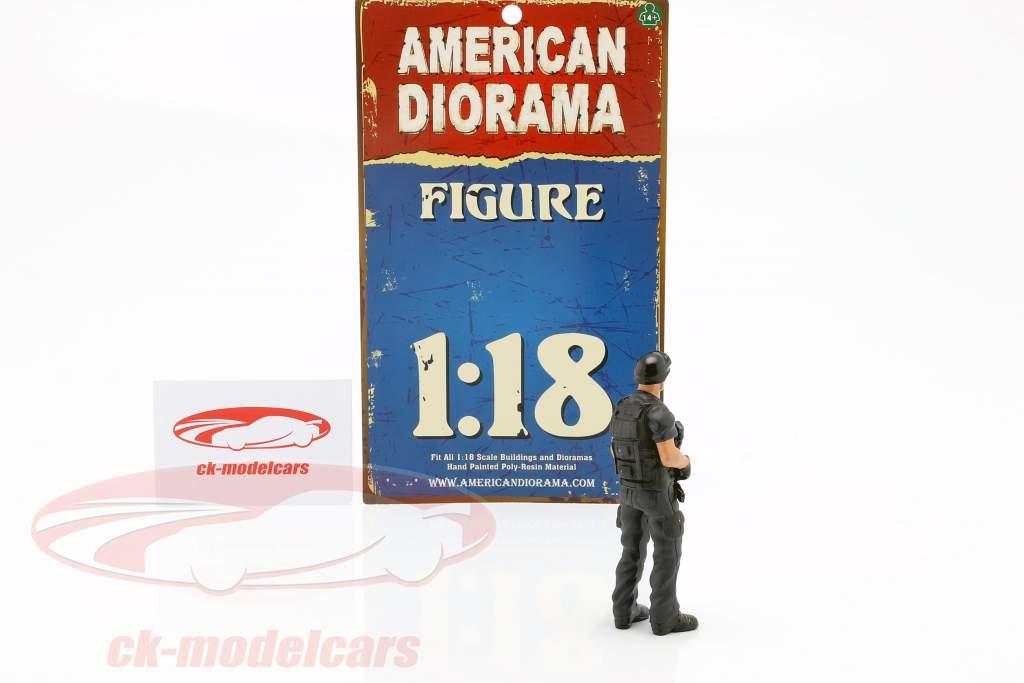 Swat Team chefe figura 1:18 American Diorama