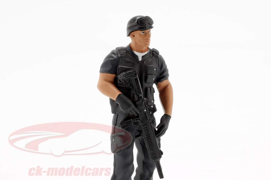 Swat Team jefe figura 1:18 American Diorama