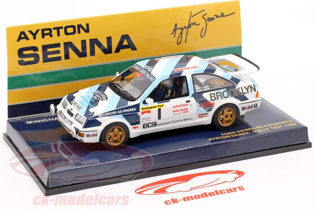 Ford Sierra RS Cosworth #1 Rallye Test Car 1986 Senna 1:43 Minichamps