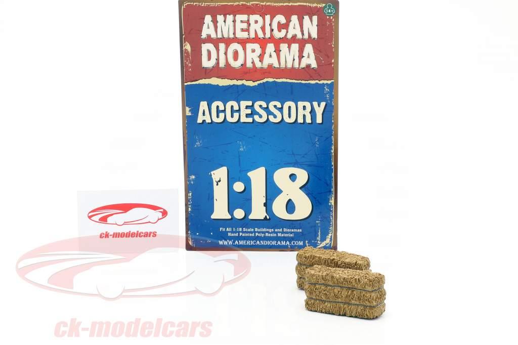 Fieno Balla 2-er impostato 1:18 American Diorama
