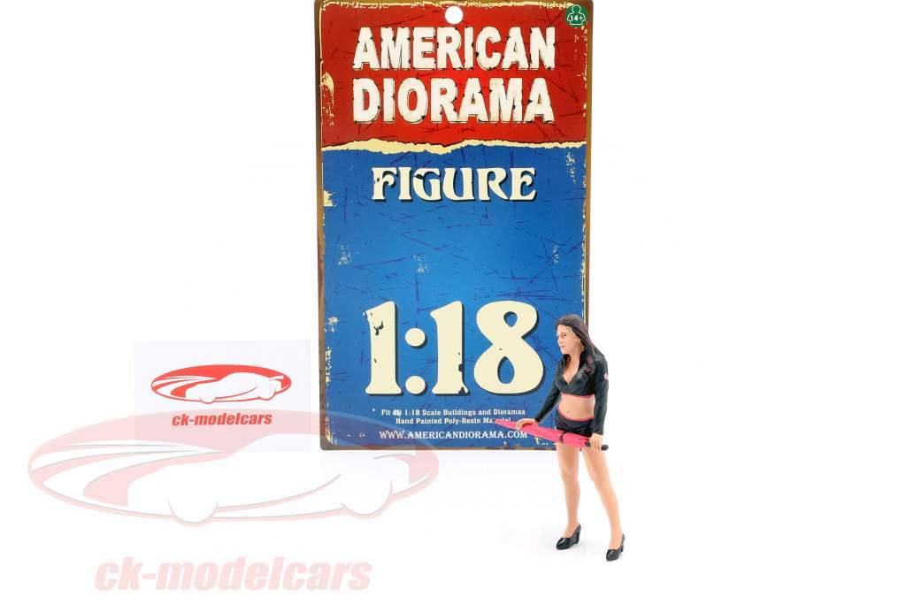paraplu meisje figuur I 1:18 American Diorama