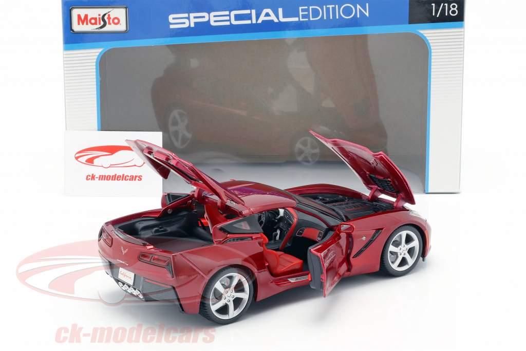 Chevrolet Corvette C7 Stingray Año 2014 rojo 1:18 Maisto