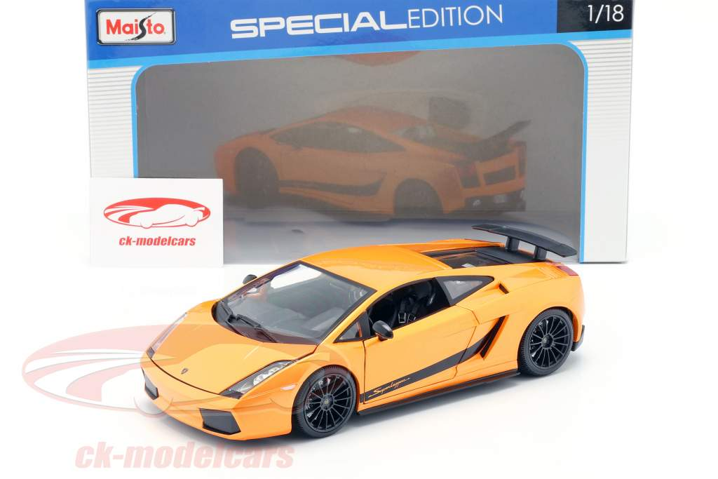 Lamborghini Gallardo Superleggera Año 2007 naranja 1:18 Maisto