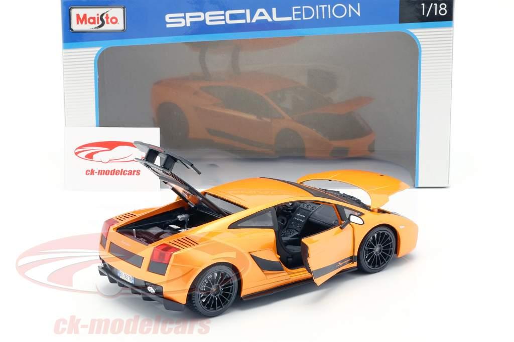 Lamborghini Gallardo Superleggera Jaar 2007 oranje 1:18 Maisto