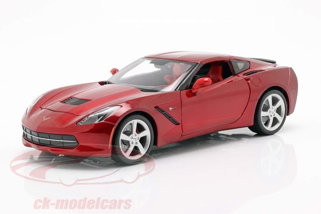 Chevrolet Corvette C7 Stingray Année 2014 rouge 1:18 Maisto