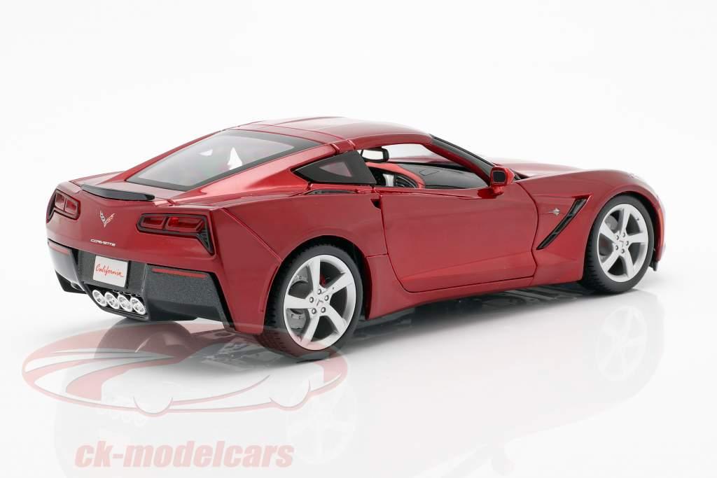 Chevrolet Corvette C7 Stingray Anno 2014 rosso 1:18 Maisto