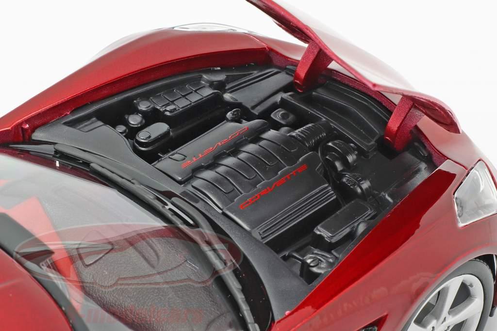 Chevrolet Corvette Stingray C7 Ano 2014 vermelho 1:18 Maisto