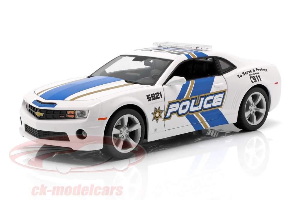Chevrolet Camaro SS RS Policía modelo 2010 azul / blanco 1:18 Maisto