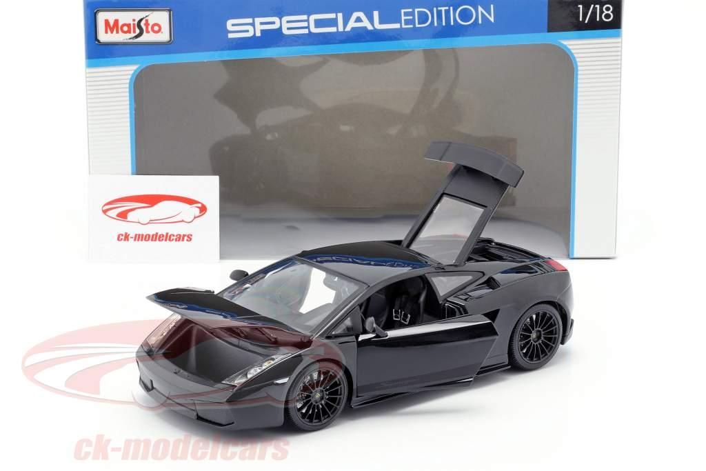 Lamborghini Gallardo Superleggera year 2007 black 1:18 Maisto