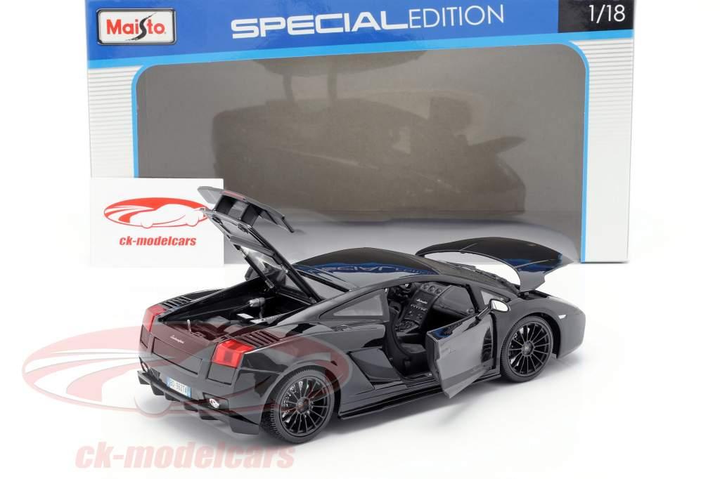 Lamborghini Gallardo Superleggera anno 2007 nero 1:18 Maisto