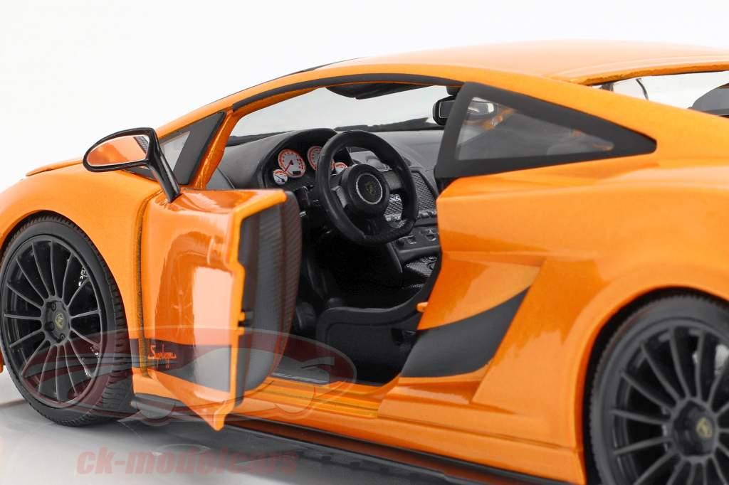Lamborghini Gallardo Superleggera Anno 2007 arancione 1:18 Maisto
