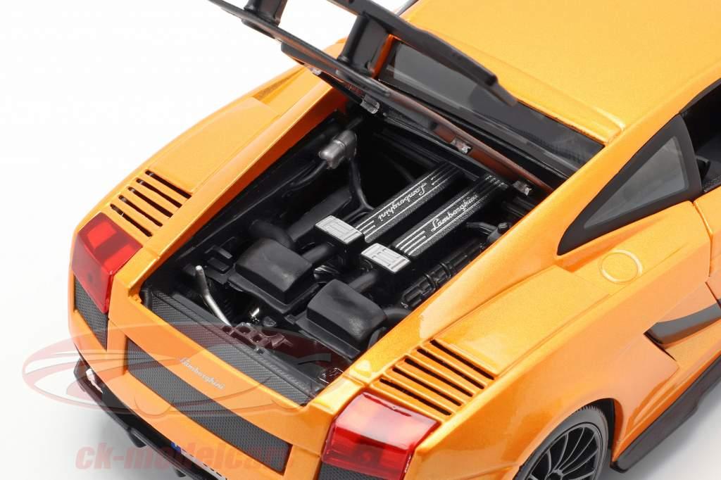 Lamborghini Gallardo Superleggera Année 2007 orange 1:18 Maisto
