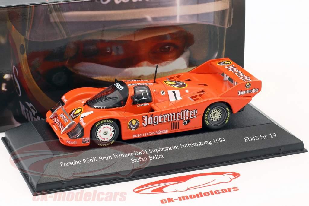 Porsche 956K #1 vincitore DRM Supersprint Nürburgring 1984 Stefan Bellof 1:43 CMR