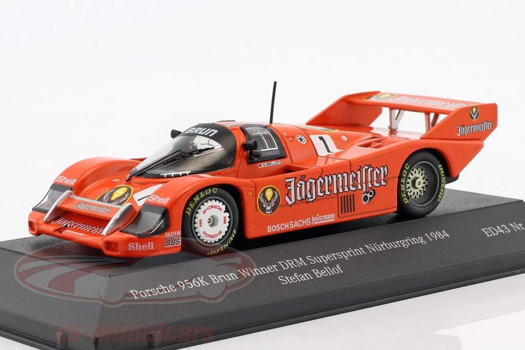 Porsche 956K #1 vencedor DRM Supersprint Nürburgring 1984 Stefan Bellof 1:43 CMR