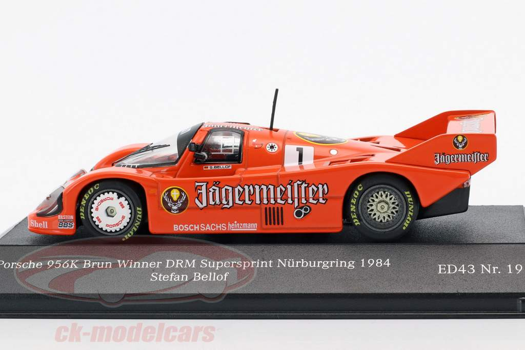 Porsche 956K #1 winnaar DRM Supersprint Nürburgring 1984 Stefan Bellof 1:43 CMR