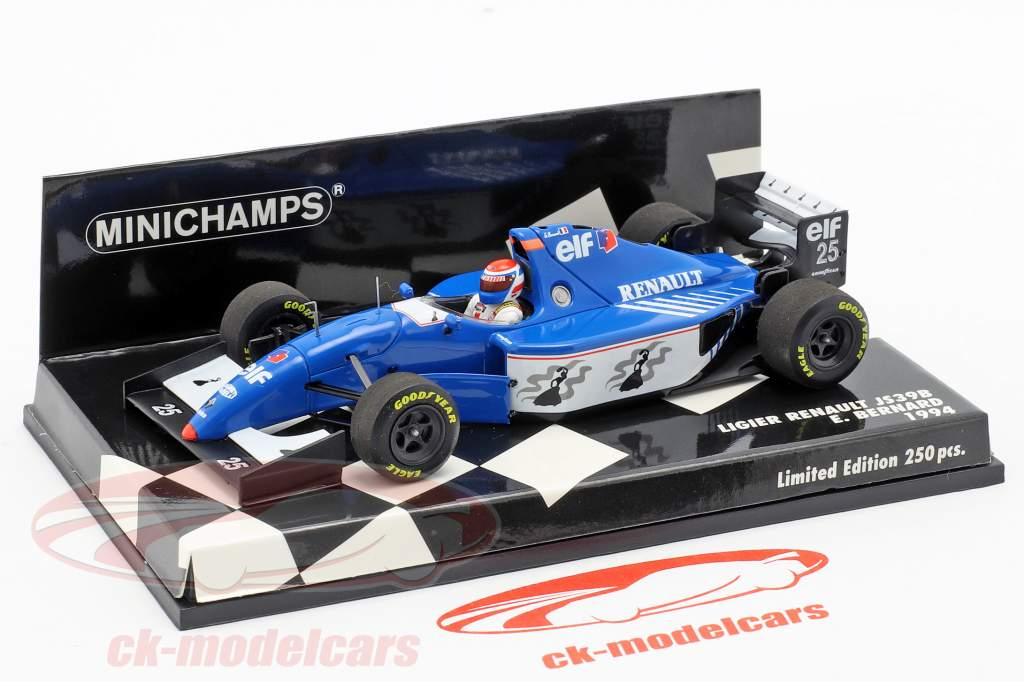 Eric Bernard Ligier JS39B #25 Formel 1 1994 1:43 Minichamps