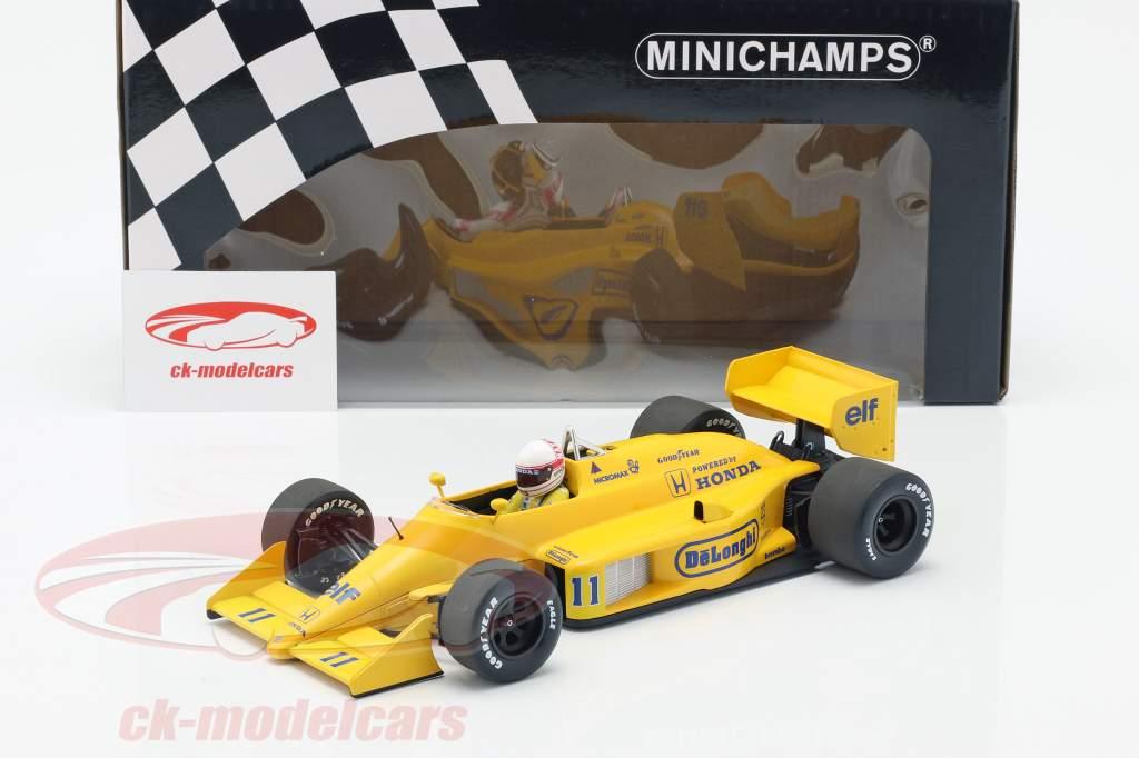 Satoru Nakajima Lotus 99T #11 Monaco GP formel 1 1987 1:18 Minichamps