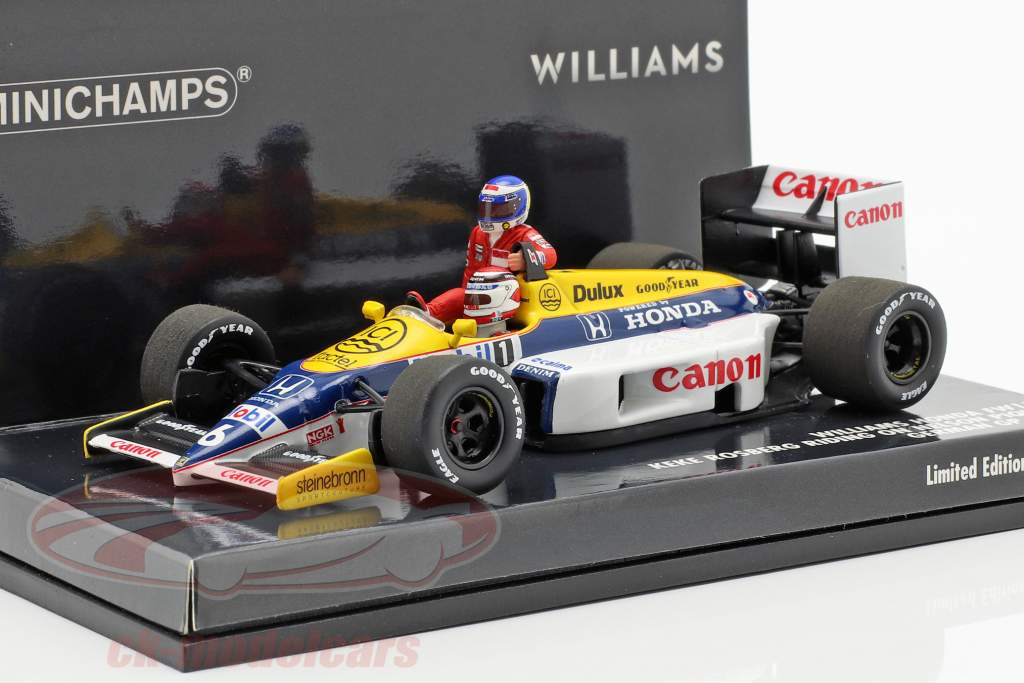 Rosberg riding on Piquet Williams FW11 #6 tysk GP F1 1986 1:43 Minichamps