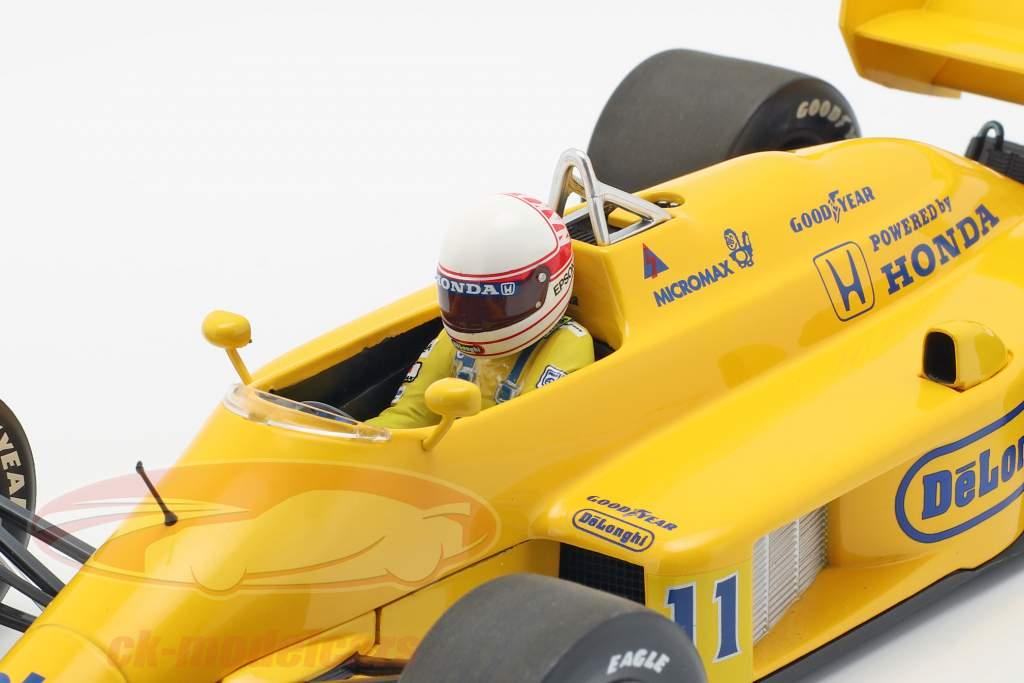 Satoru Nakajima Lotus 99T #11 Monaco GP fórmula 1 1987 1:18 Minichamps