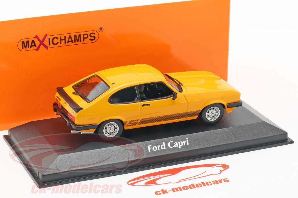 Ford Capri année de construction 1982 orange 1:43 Minichamps