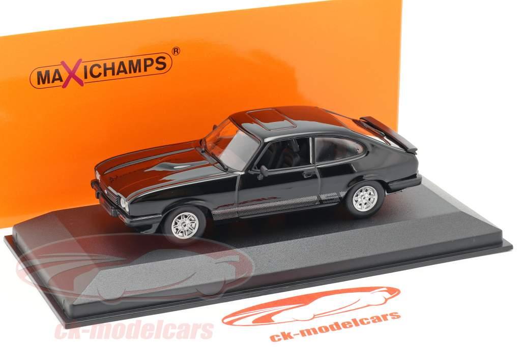 Ford Capri Bouwjaar 1982 zwart 1:43 Minichamps