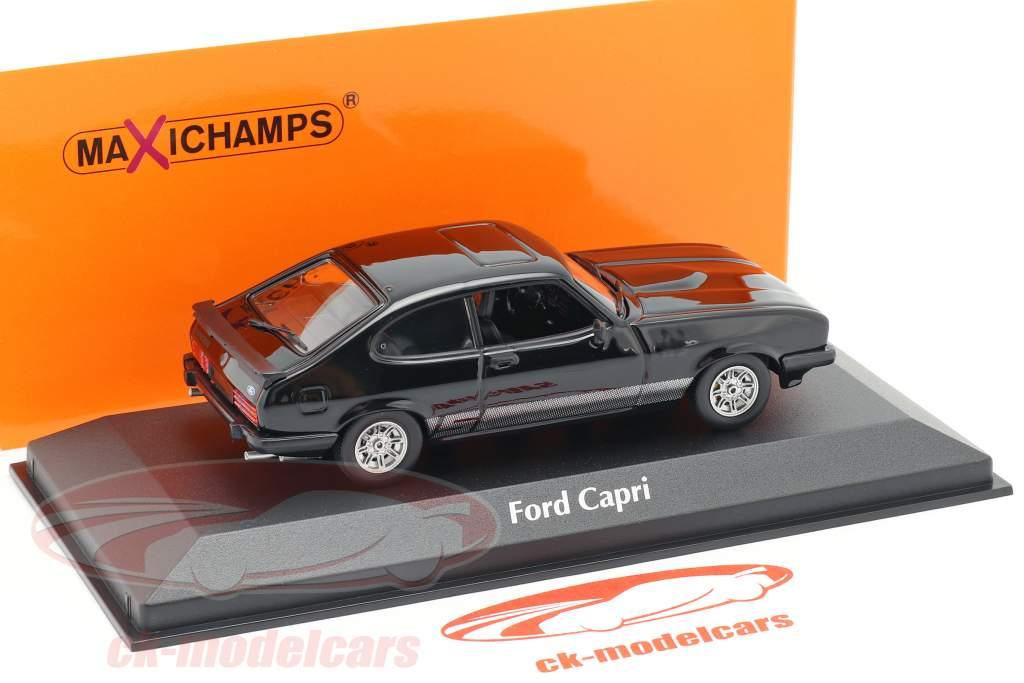 Ford Capri Baujahr 1982 schwarz 1:43 Minichamps