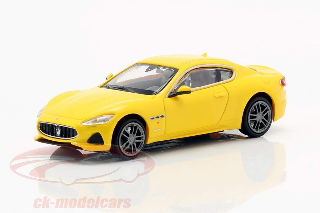 Maserati Granturismo Opførselsår 2018 gul 1:87 Minichamps