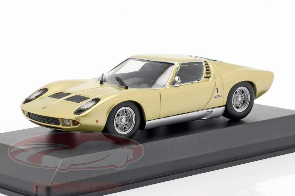 Lamborghini Miura Bouwjaar 1966 goud 1:43 Minichamps
