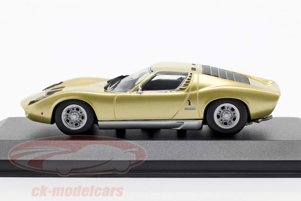 Lamborghini Miura año de construcción 1966 oro 1:43 Minichamps